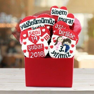 Yıldönümüne Özel Mesajlı Kurabiyeler - Thumbnail