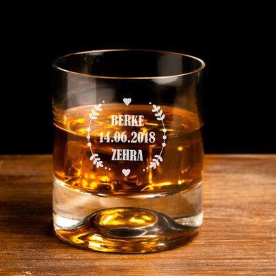 - Yıldönümüne Özel Tarihli Viski Bardağı