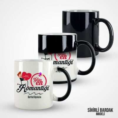 Yılın En Romantiği Kupa Bardak - Thumbnail