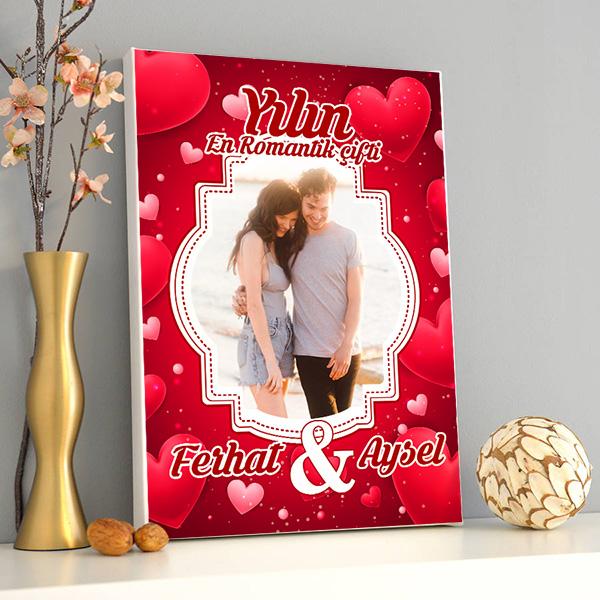 Yılın En Romantik Çifti Kanvas Tablo