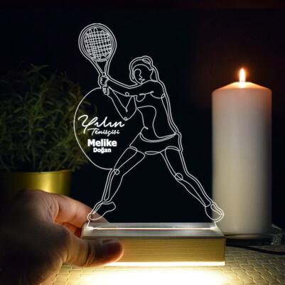 - Yılın Tenisçisi Tasarımlı 3d Led Lamba