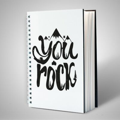 You Rock Motto Defter - Thumbnail