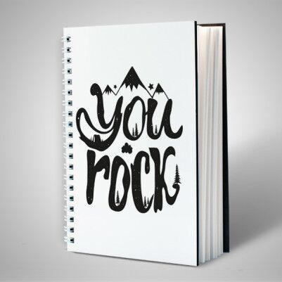 You Rock Motto Defter - Thumbnail