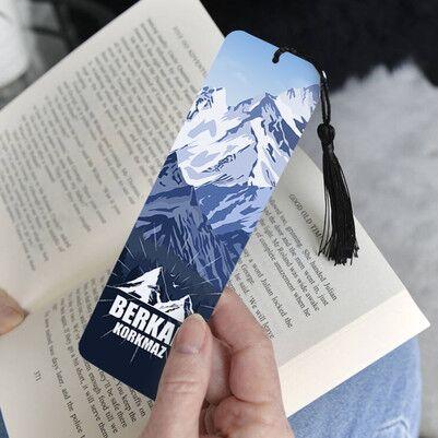 Yüksek Zirveler Tasarımlı Kitap Ayracı - Thumbnail
