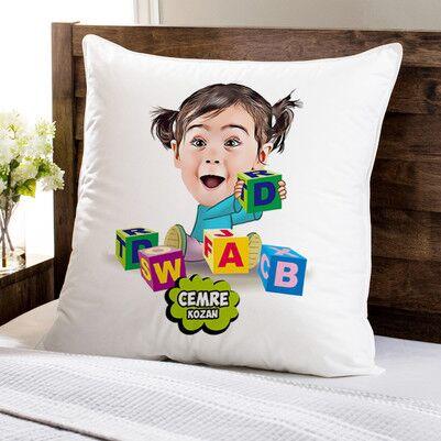 - Zeka Küpü Bebek Karikatürlü Yastık