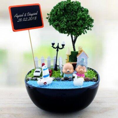 - Zengin ve Mutlu Kişiye Özel Mini Bahçe