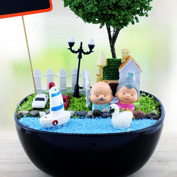 Zengin ve Mutlu Kişiye Özel Mini Bahçe