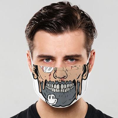 Zombi Ağzı Yıkanabilir Tasarım Maske - Thumbnail