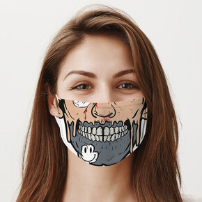 - Zombi Ağzı Yıkanabilir Tasarım Maske