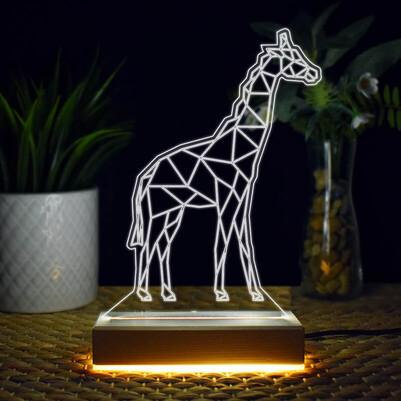 - Zürafa Tasarımlı 3d Led Lamba